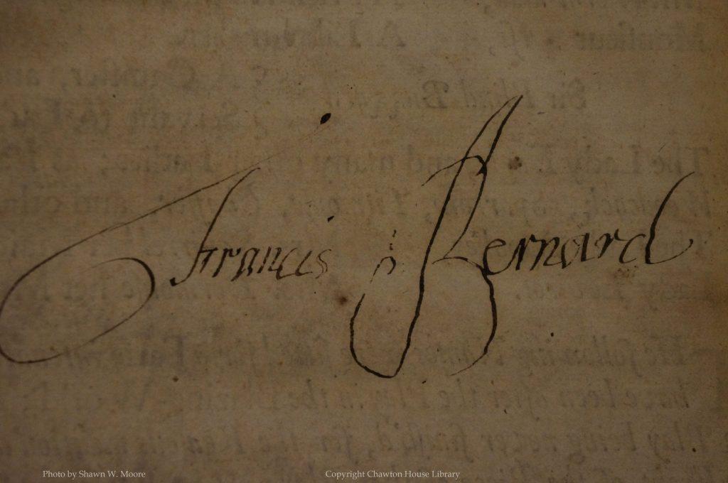 Signature - Francis Bernard